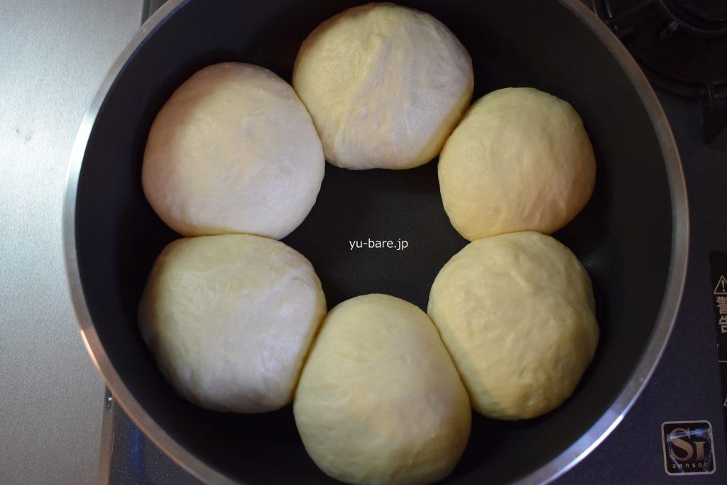 パンを焼く前の写真