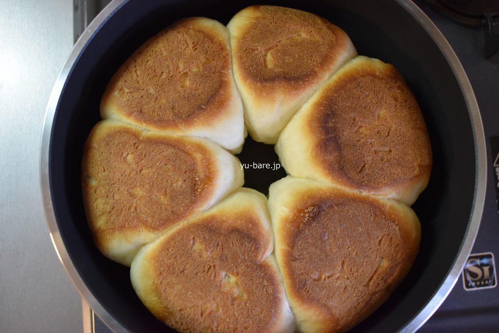 パンを焼いたあとの写真